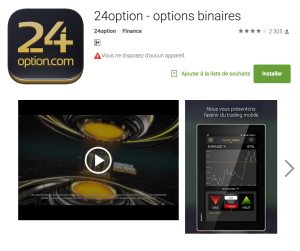 24option fiche playstore